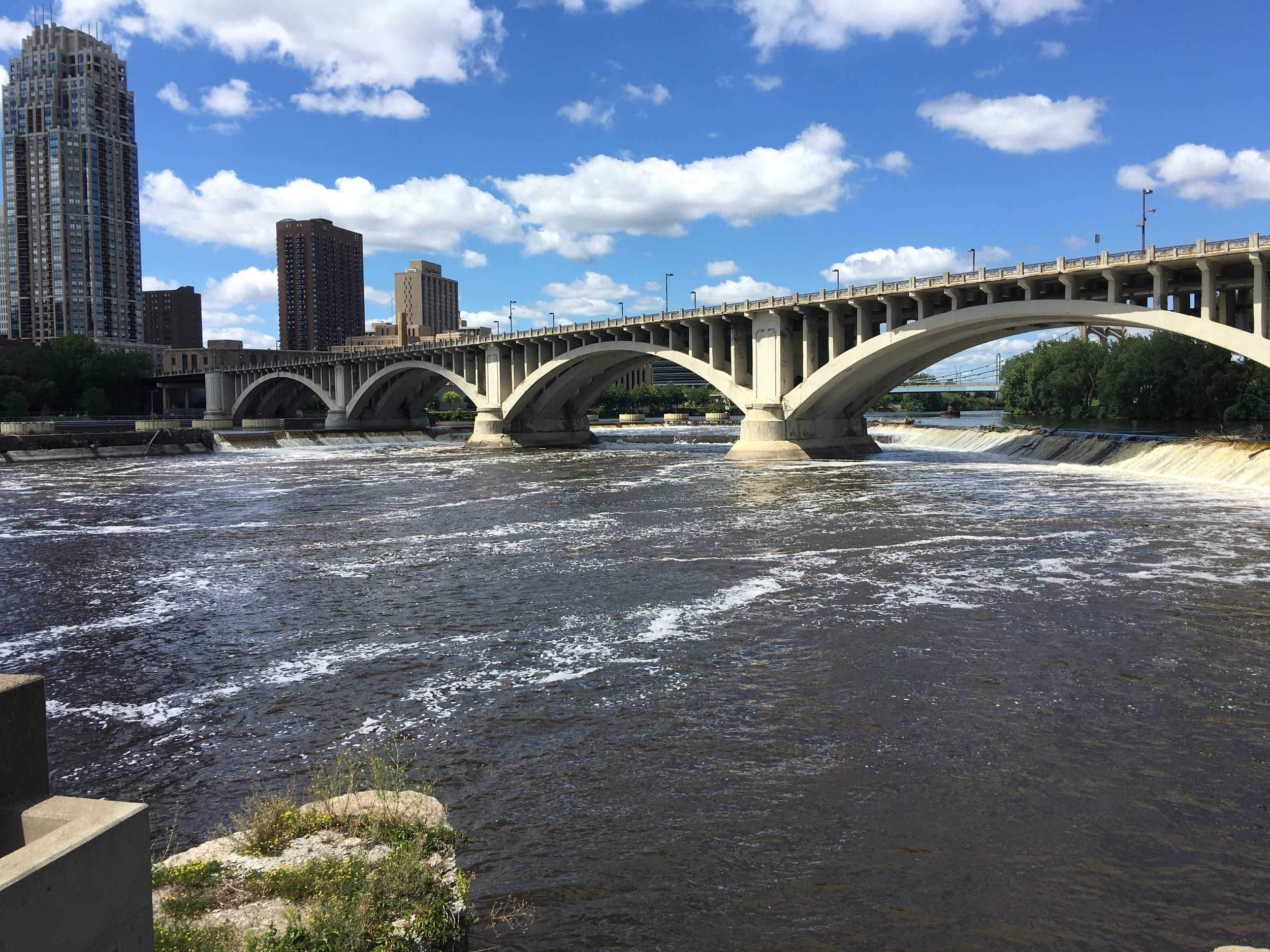 The St. Anthony Falls of the Mississippi River