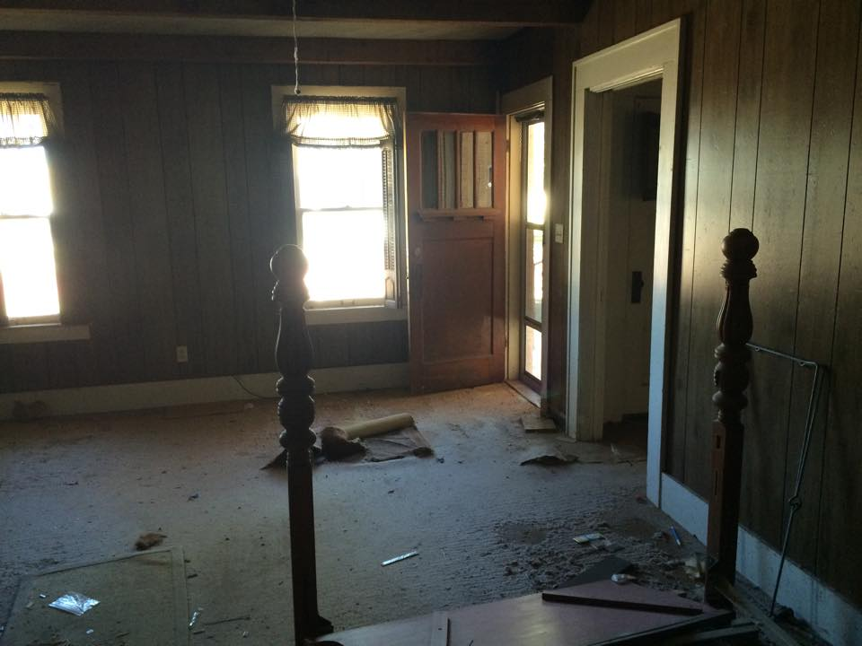 The living room when we purchased the house