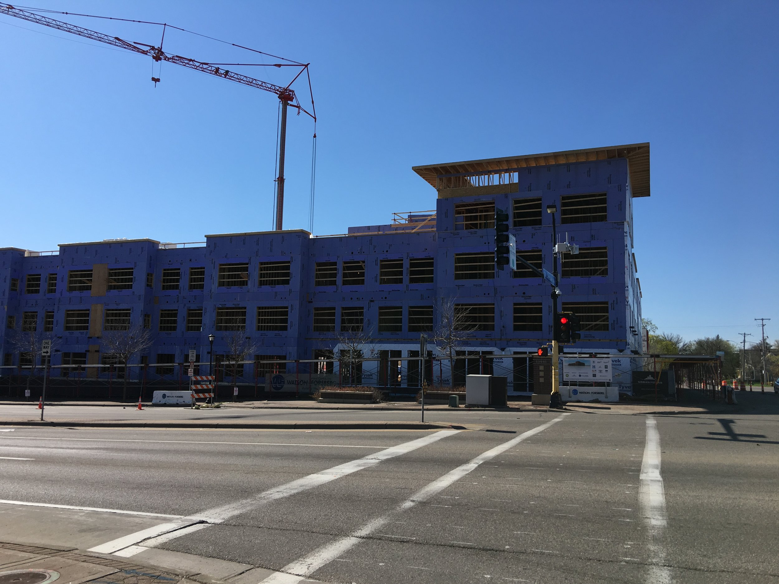 New affordable housing project by PPL at Lyndale Avenue N and Lowry Avenue N