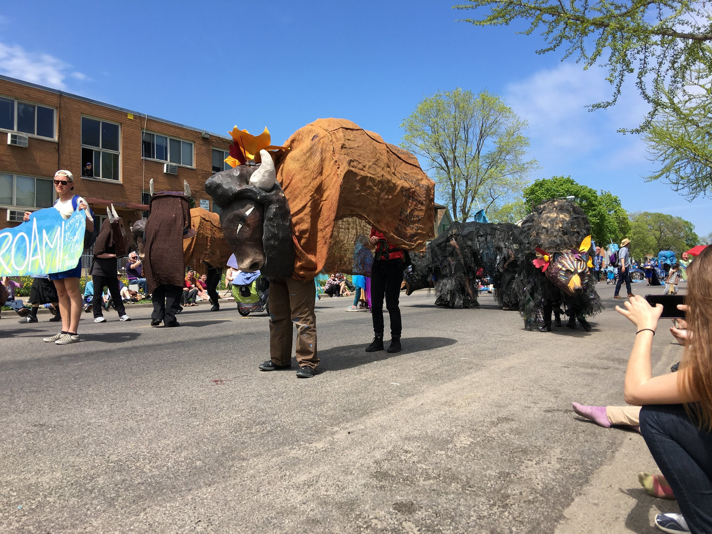 One of the many unique puppet creations in the parade