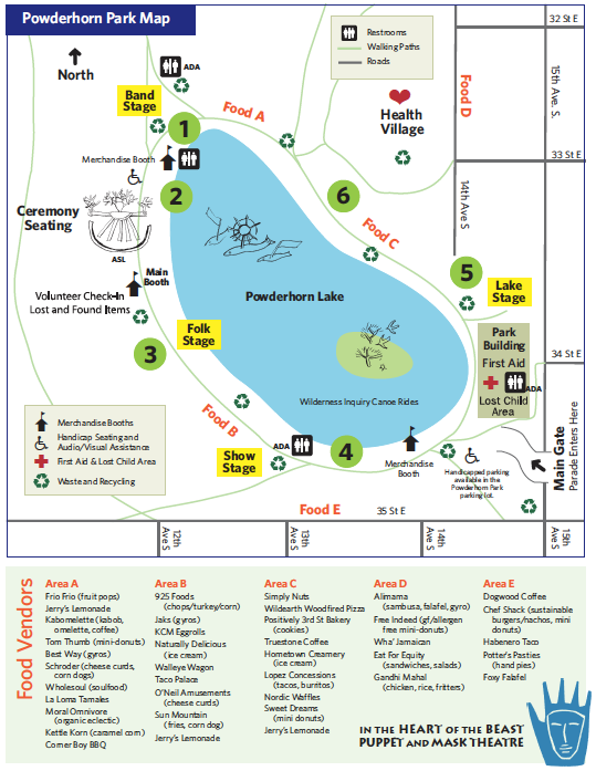 Map of the festival activities