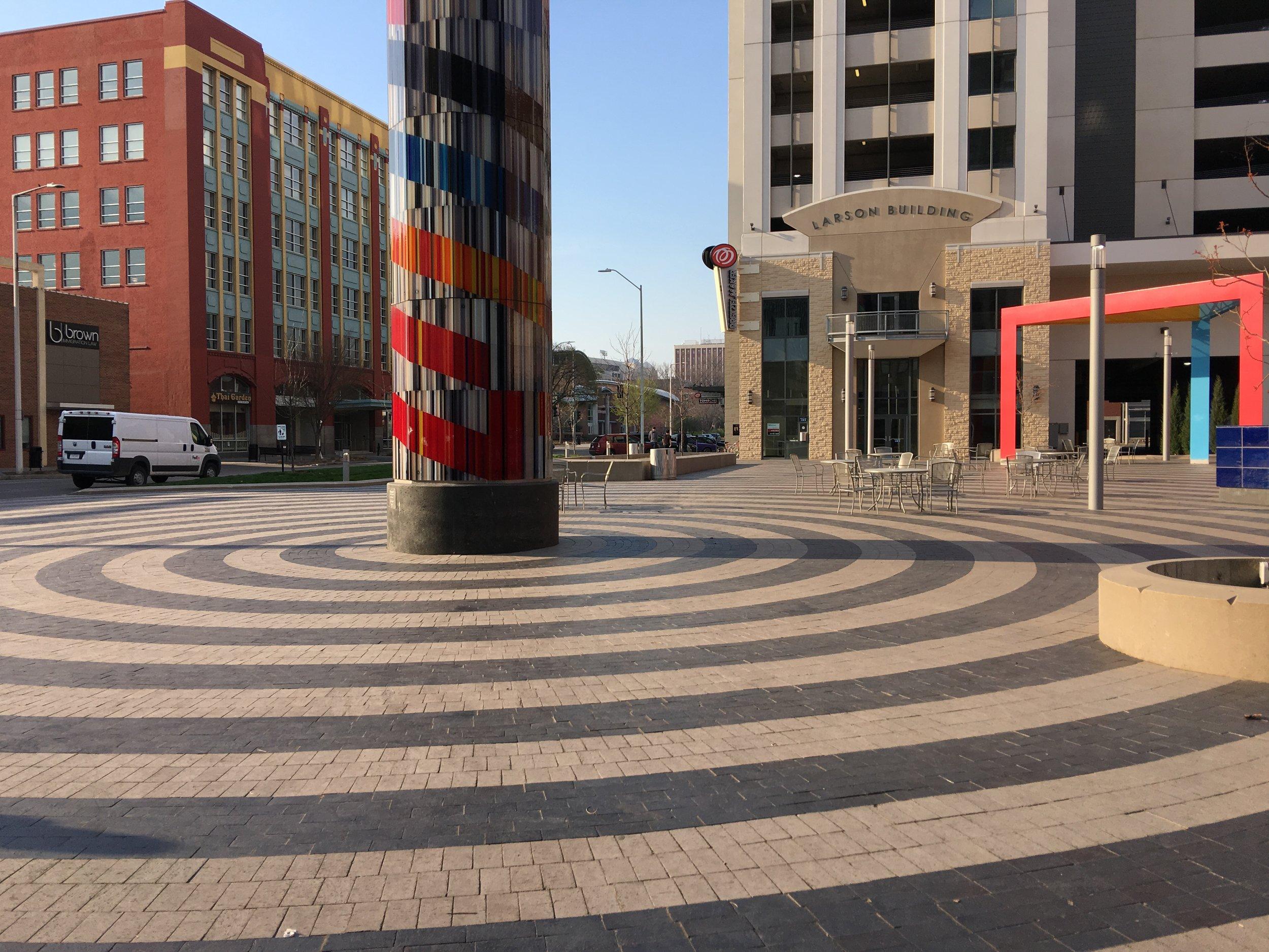 Civic Plaza in downtown Lincoln, Nebraska.