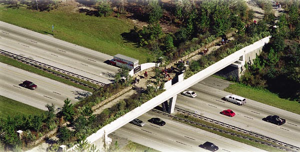 The wildlife bridge over I-75 in Florida (photo courtesy of the Life As Ty See's It blog)