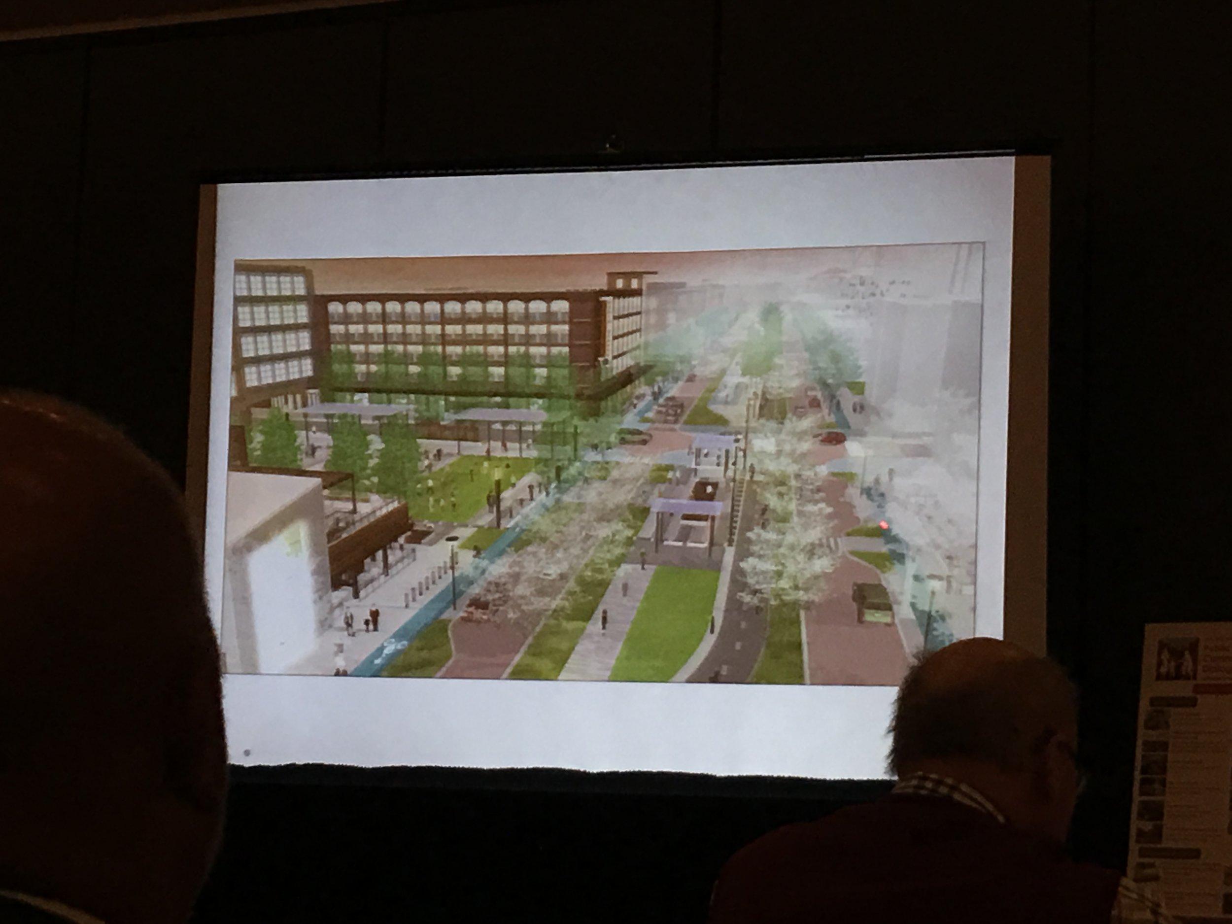 Slide showing Carmel, Indiana's new street design