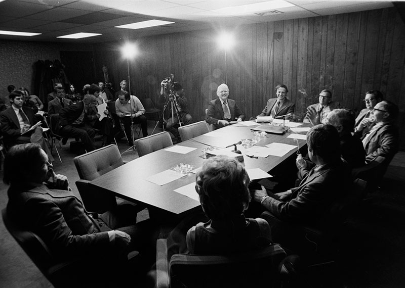 Members of the MXC Committee during a meeting (image courtesy of the Minnesota Historical Society)