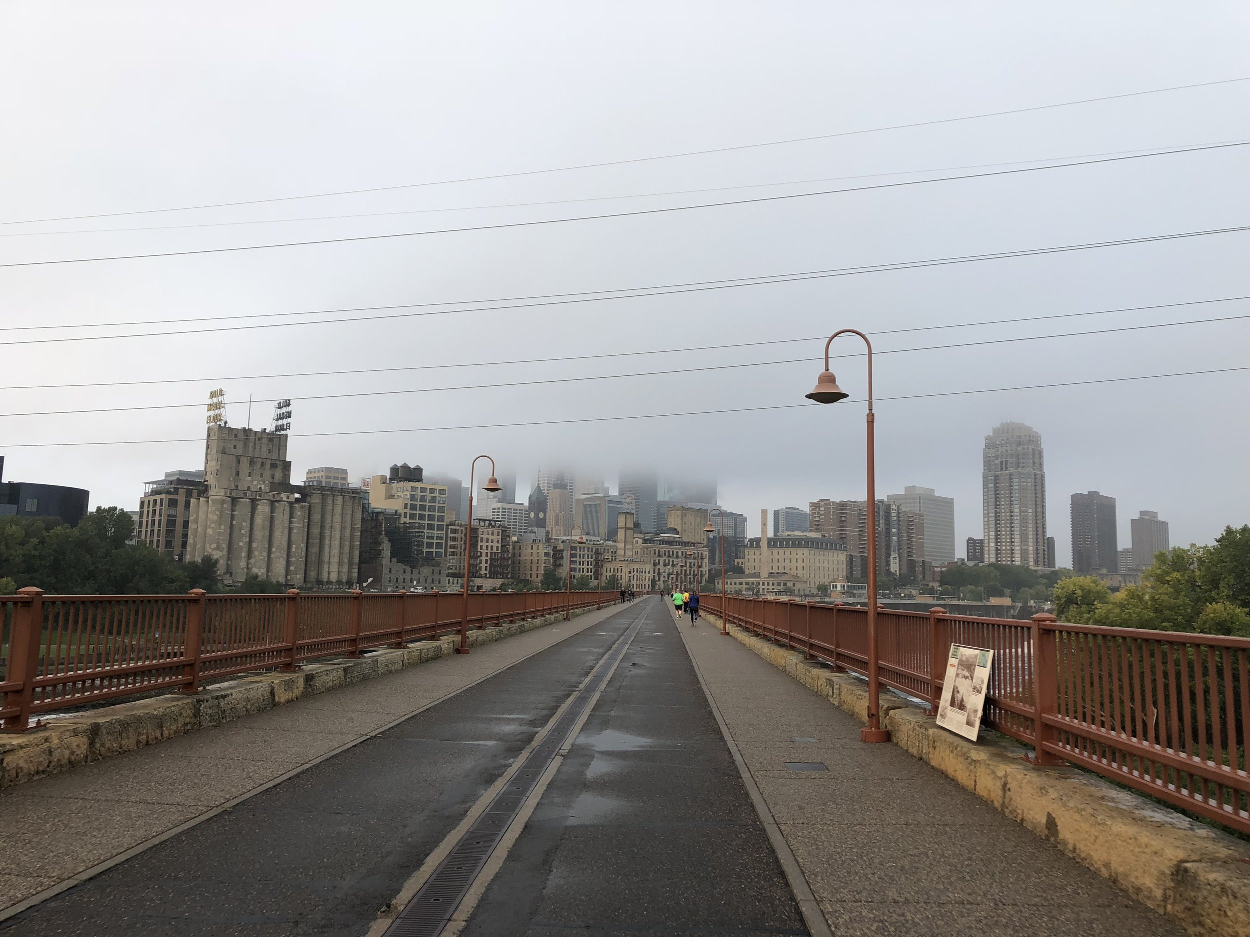 The best part of my daily bike commute, crossing the Stone Arch Bridge