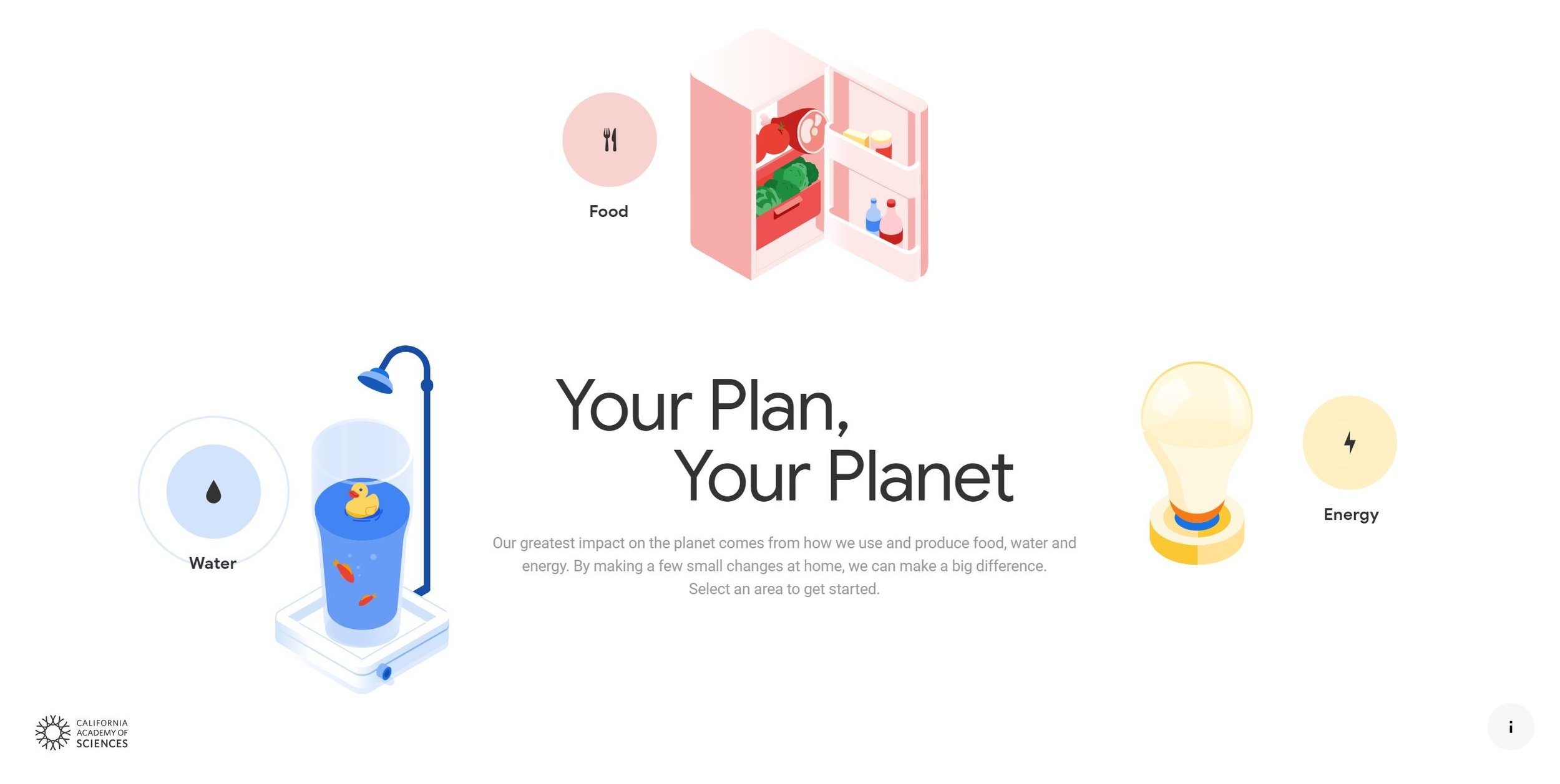 Your Plan, Your Planet Homepage from Google