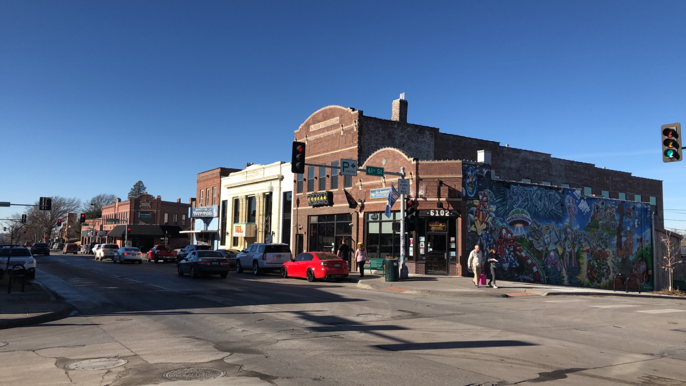 Old commercial district in Benson