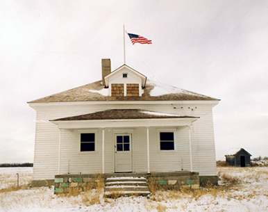 The first school building in Nicodemus (image courtesy of NPS.org)