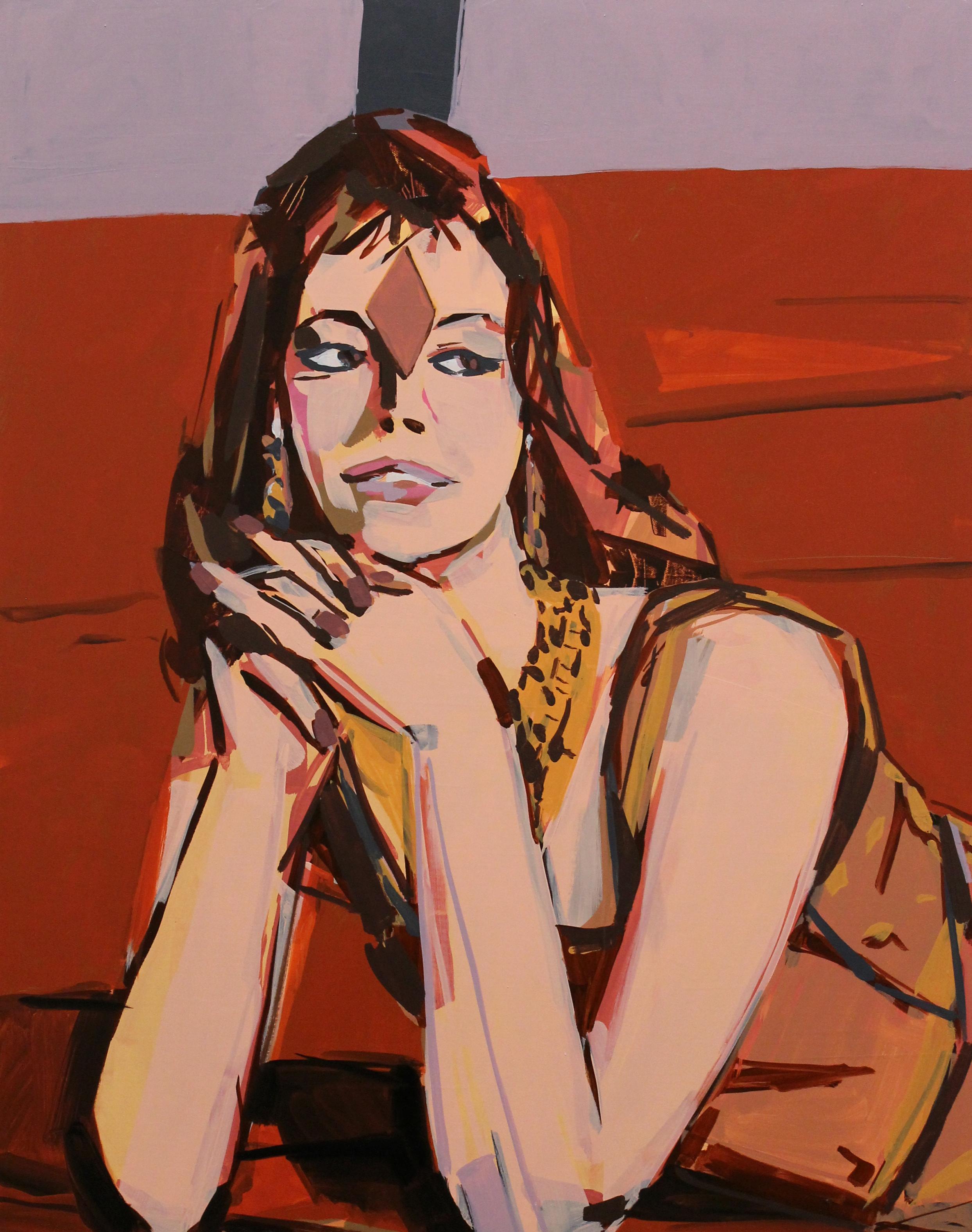 """Peter Hoffman,  Velvet Carpet , Oil on canvas, 28x22"""", 2018"""