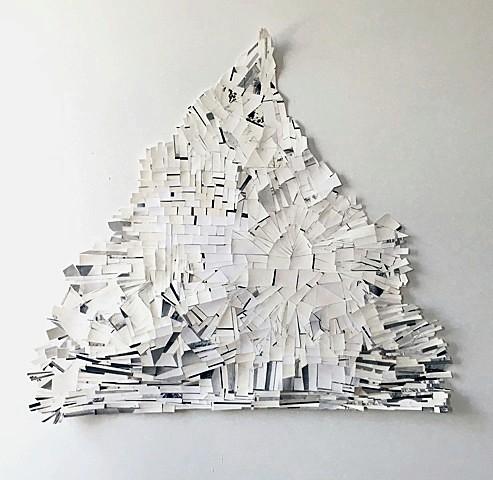 "Maria Levitsky, Mountain , Silver gelatin prints, tape. 30"" x 30"" (approx.), 2017"