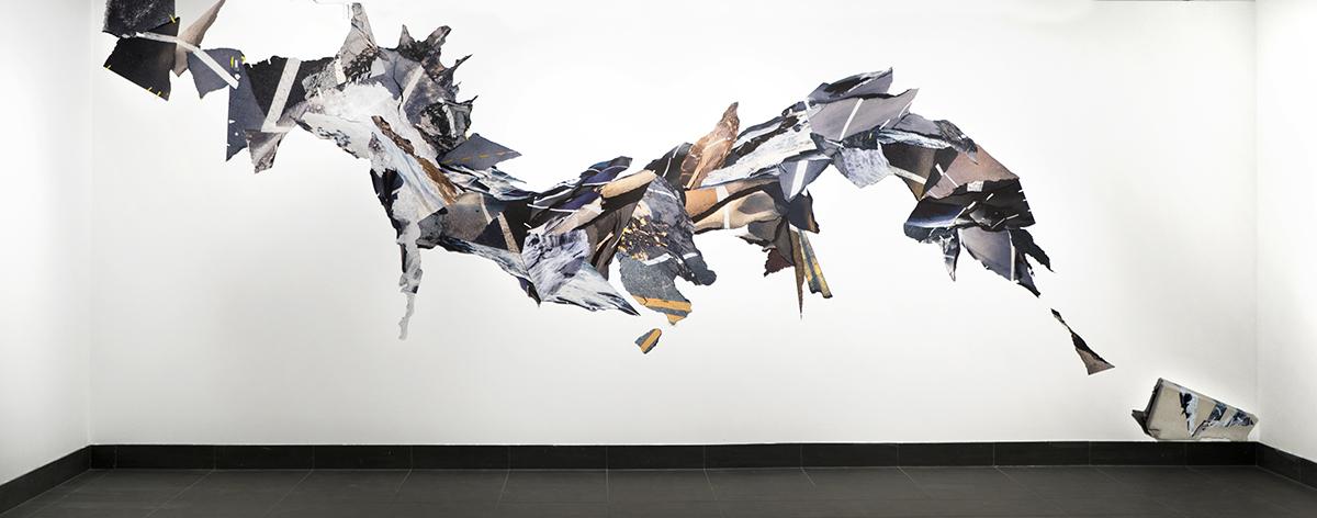 Leah Dyjak,  Moonrakers , 15x38', Photographic installation, 2018