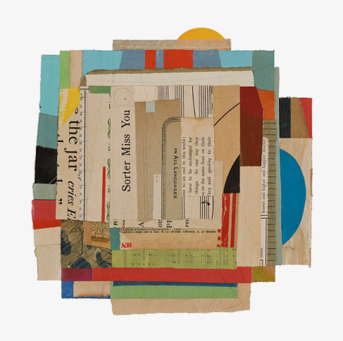 ©Jacqueline Dee Parker_One Last Summer Of Always_paper, acrylic, and graphite collage_9x9in.jpeg