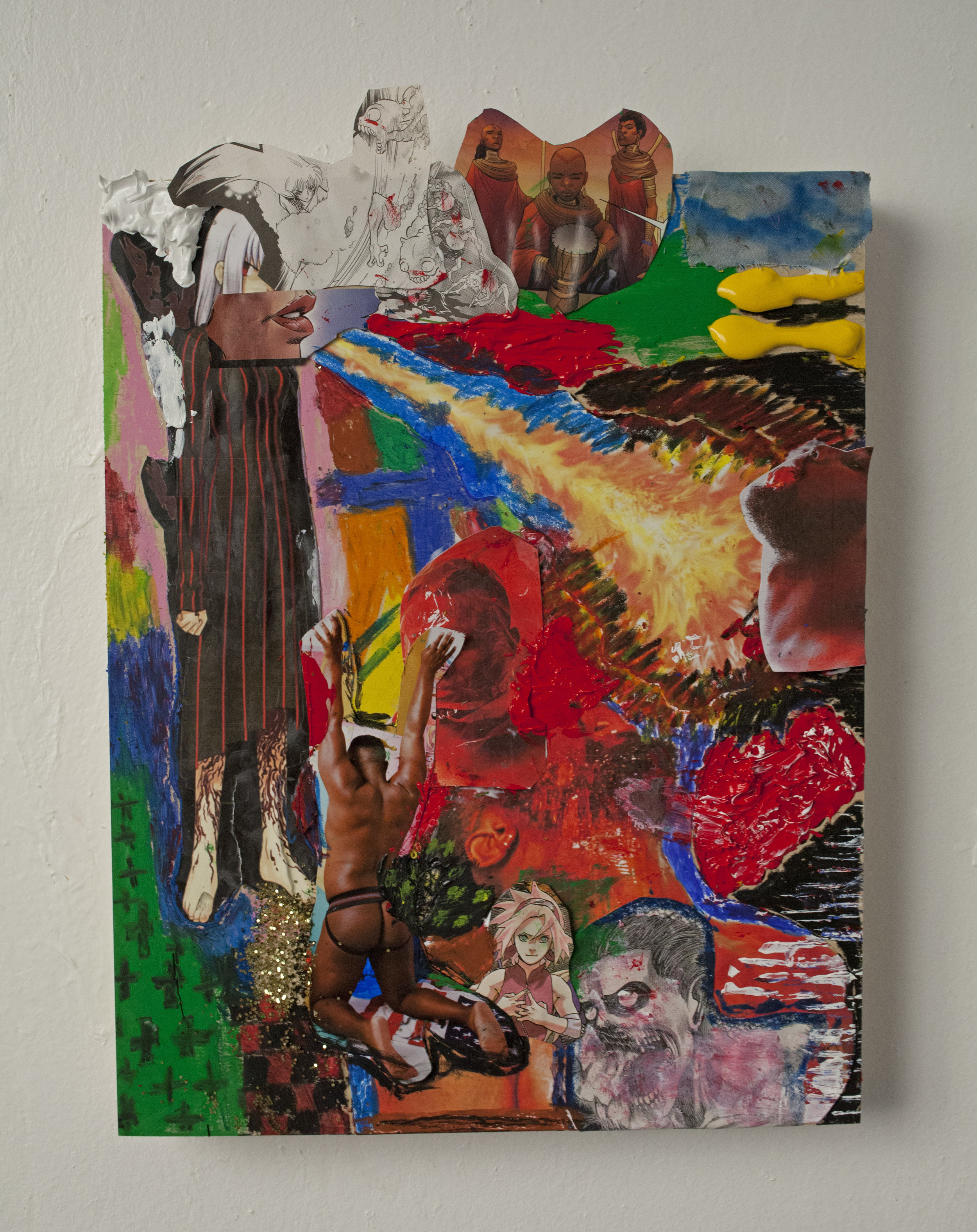 """Rakeem Cunningham,  Don't Tell Me How To Deal With My Own Sexual Assault , 16 x 12"""""""
