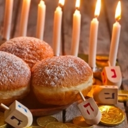 Holidays   Can't make it home for the holidays?   Join   our Chabad family as we explore our heritage and customs, accompanied (of course) by all of the traditional dishes.                                                   Chanukah 2017!  Please  let us know  if you'd like a Menorah-to-go or if you're in town during Chanukah.
