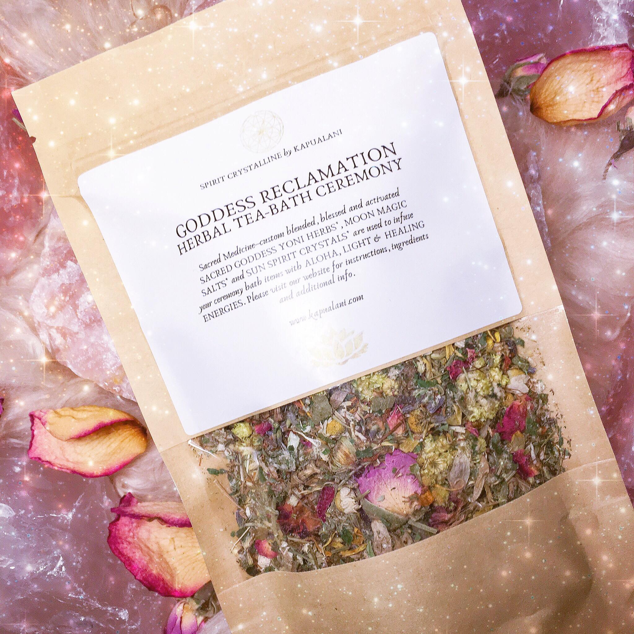 GODDESS RECLAMATION: Herbal Tea-Bath Ceremony Kit