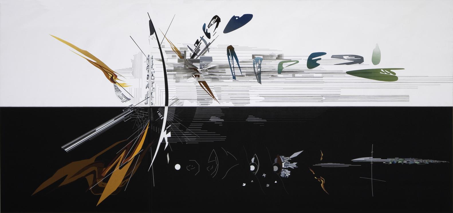 """""""Vision for Madrid,"""" Zaha Hadid,1992. Courtesy of Zaha Hadid Architects."""