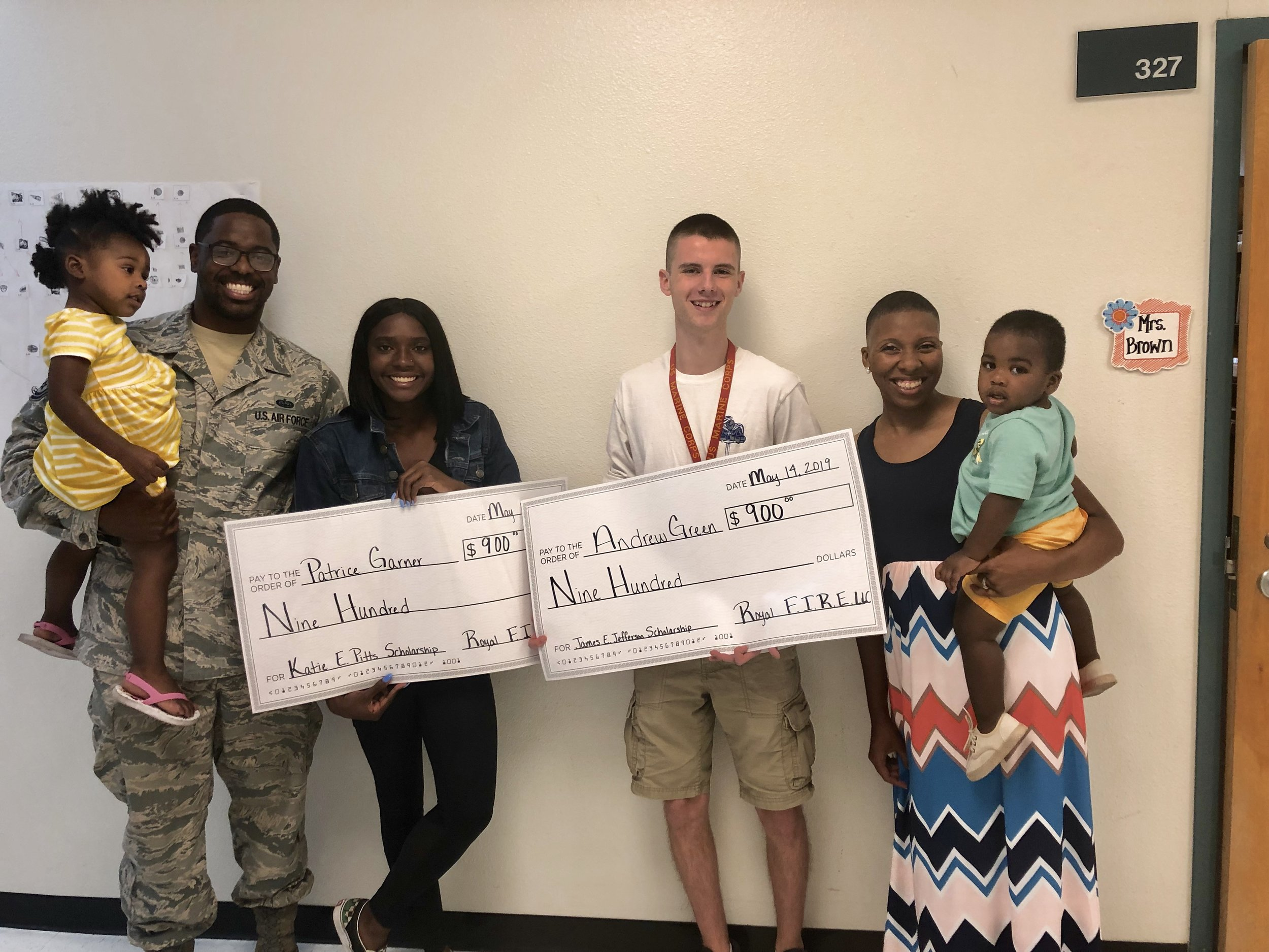 2019 Winners Andrew Green & Patrice Garner - WESTVIEW HIGH SCHOOL, ARIZONA$1,800 DONATED AND RAISED!! THANK YOU EVERYONE WHO DONATED, GOD BLESS