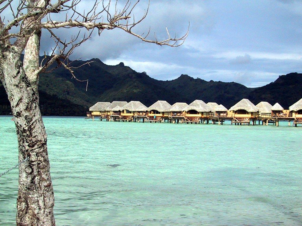 Tahiti, Bora Bora, Moorea over the water bungalows