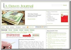 A Dawn Journal is a top best American financial blog.