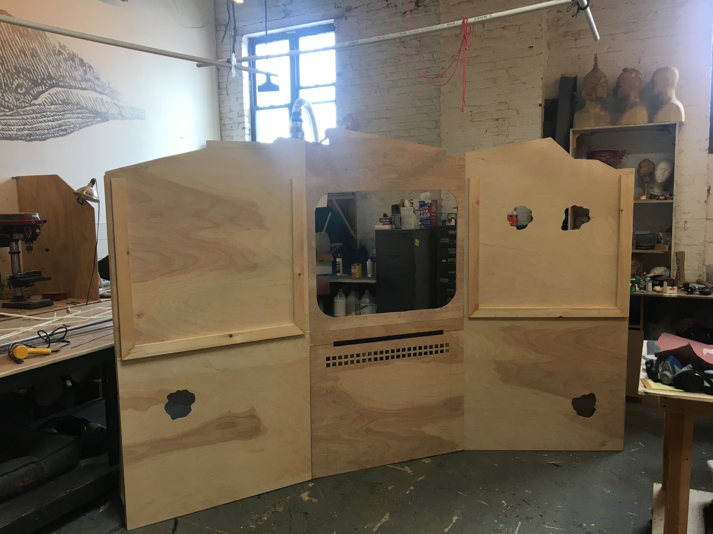 The panels of the machine, fresh from AchesonWalsh studios