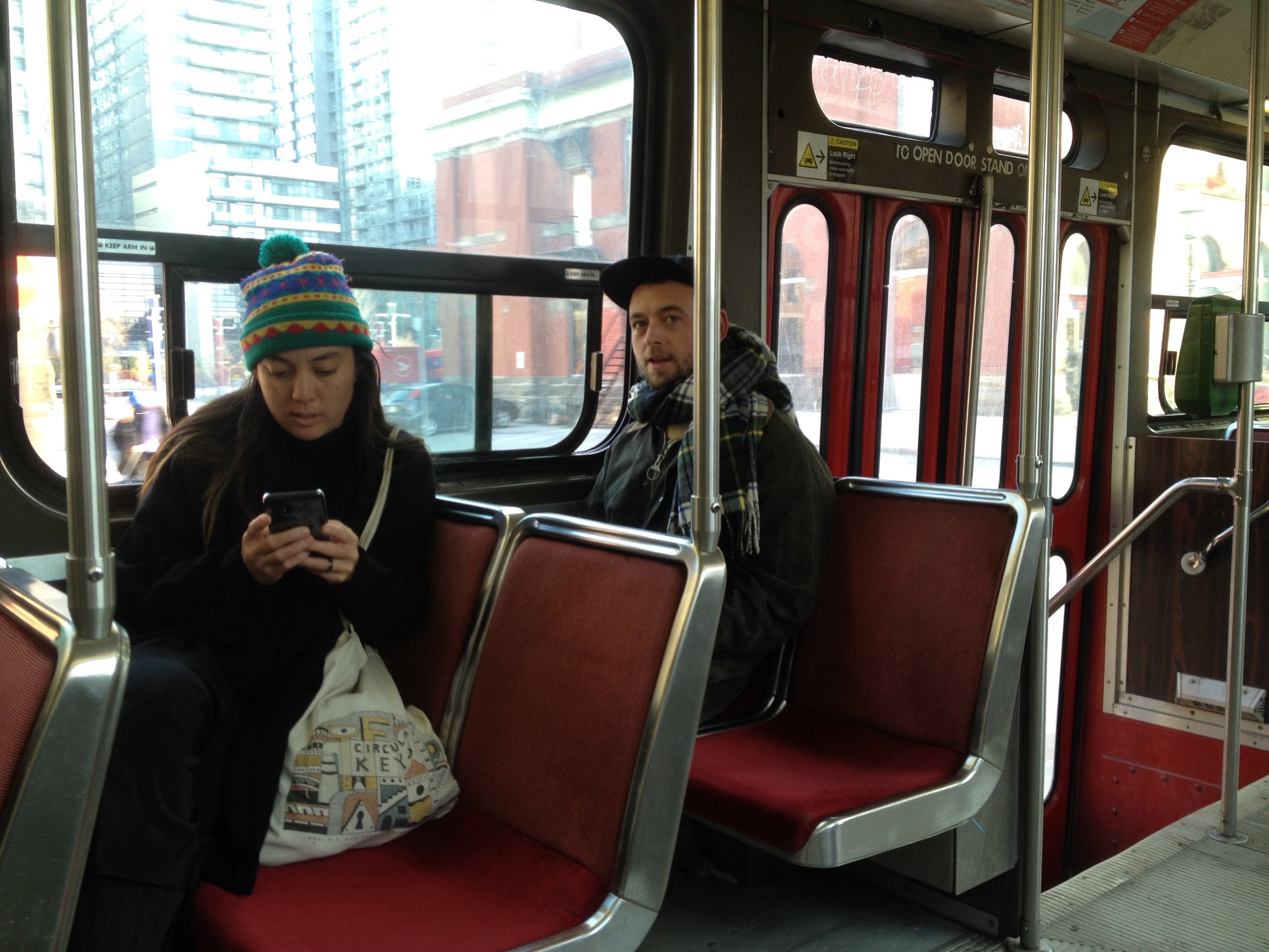 We flew into a cold mid-spring Toronto. The trams were called streetcars.