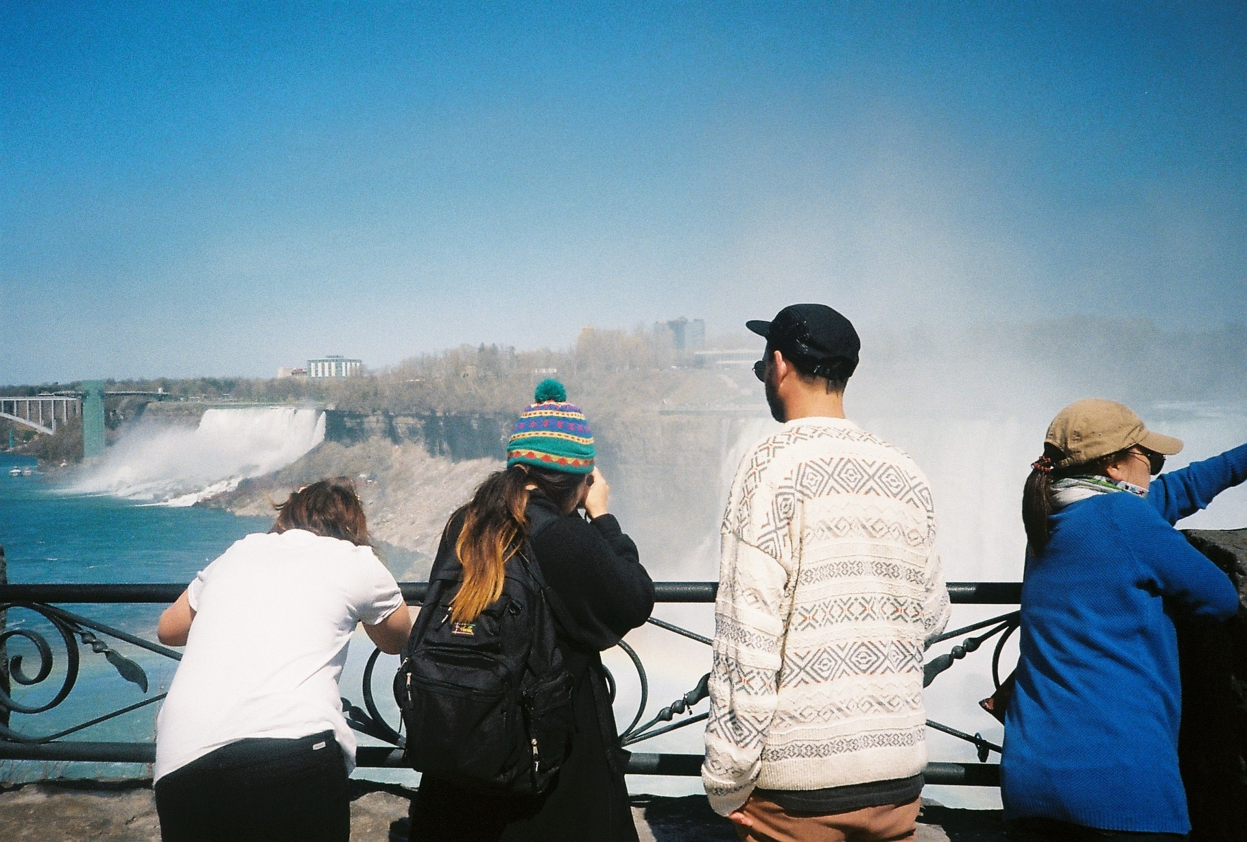 Niagara Falls. Not sure who that is on the right.