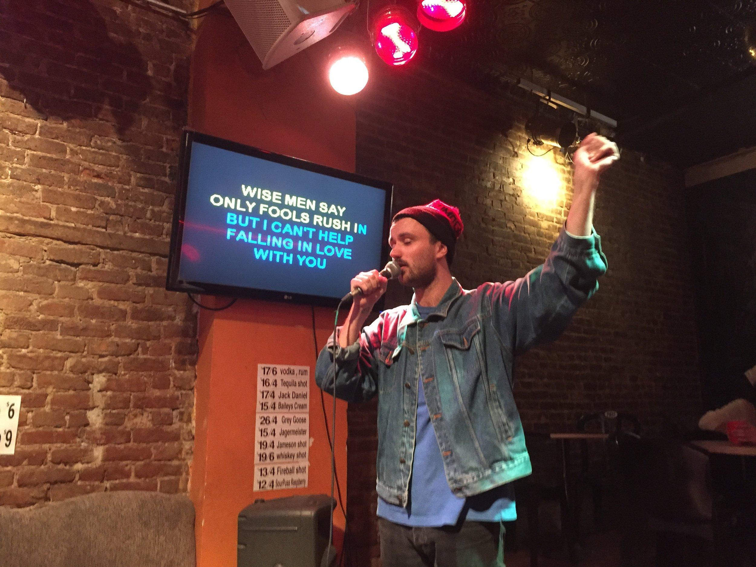 Karaoke after the show.