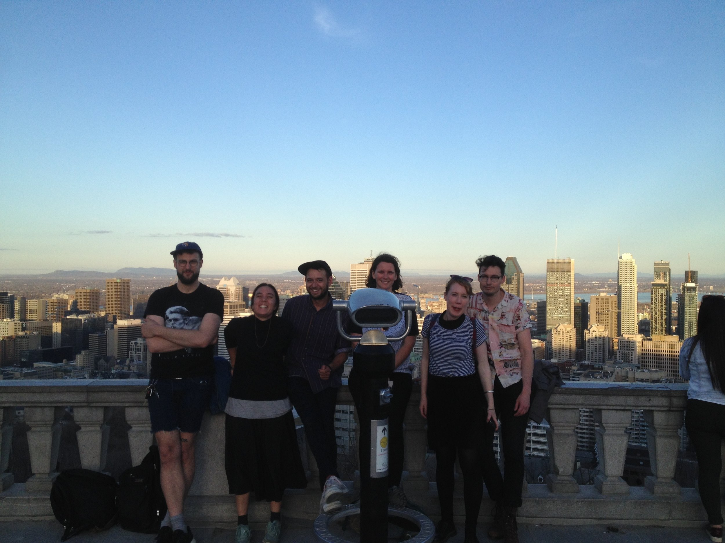 Mont Royal with Heart Beach and new mate Maxence.