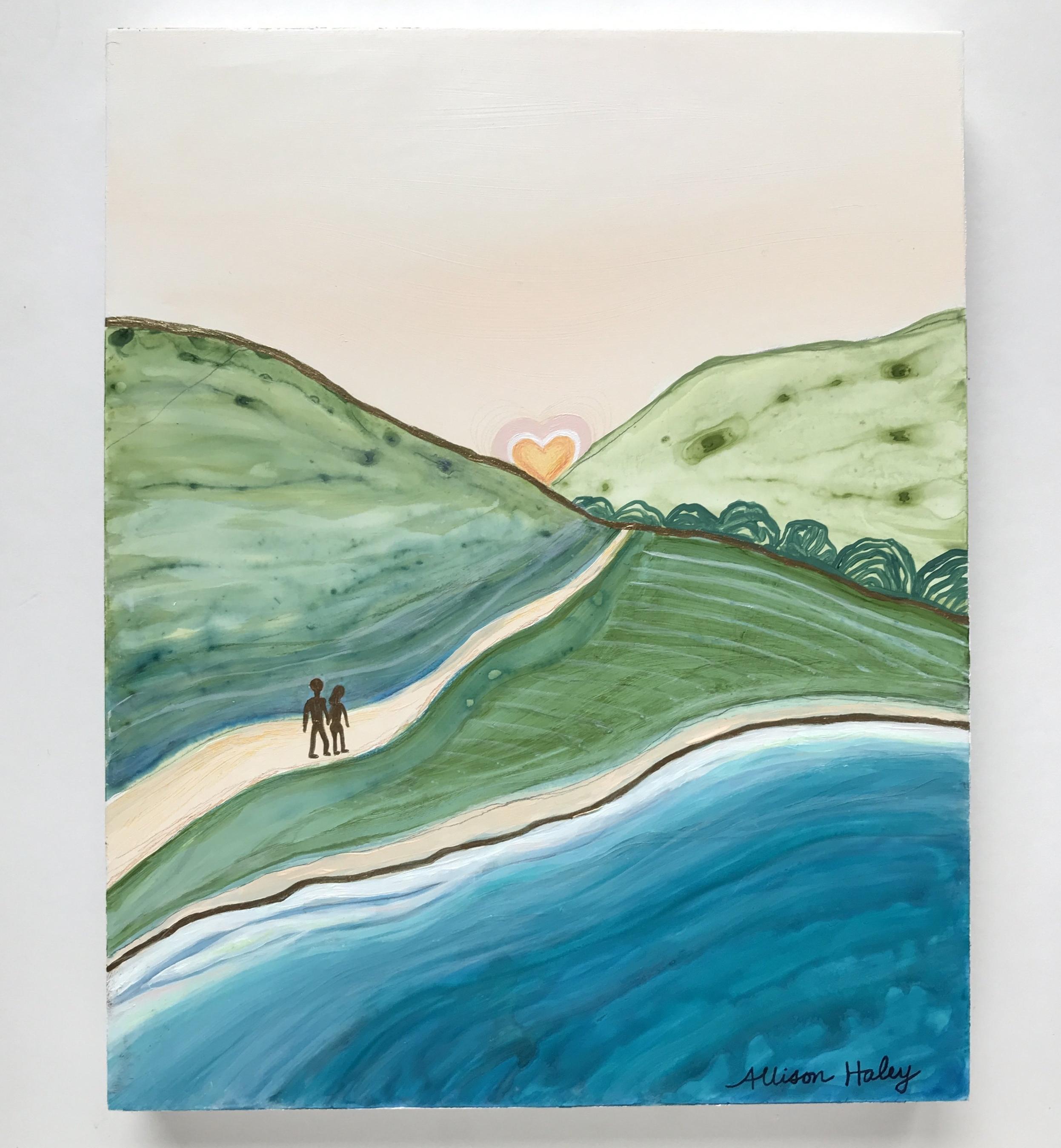 """Wilder Love"" . 9x12"" . Acrylic on Birch Panel"