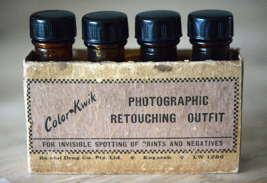 { spotting dyes which were part of Ange's old school photography kit }