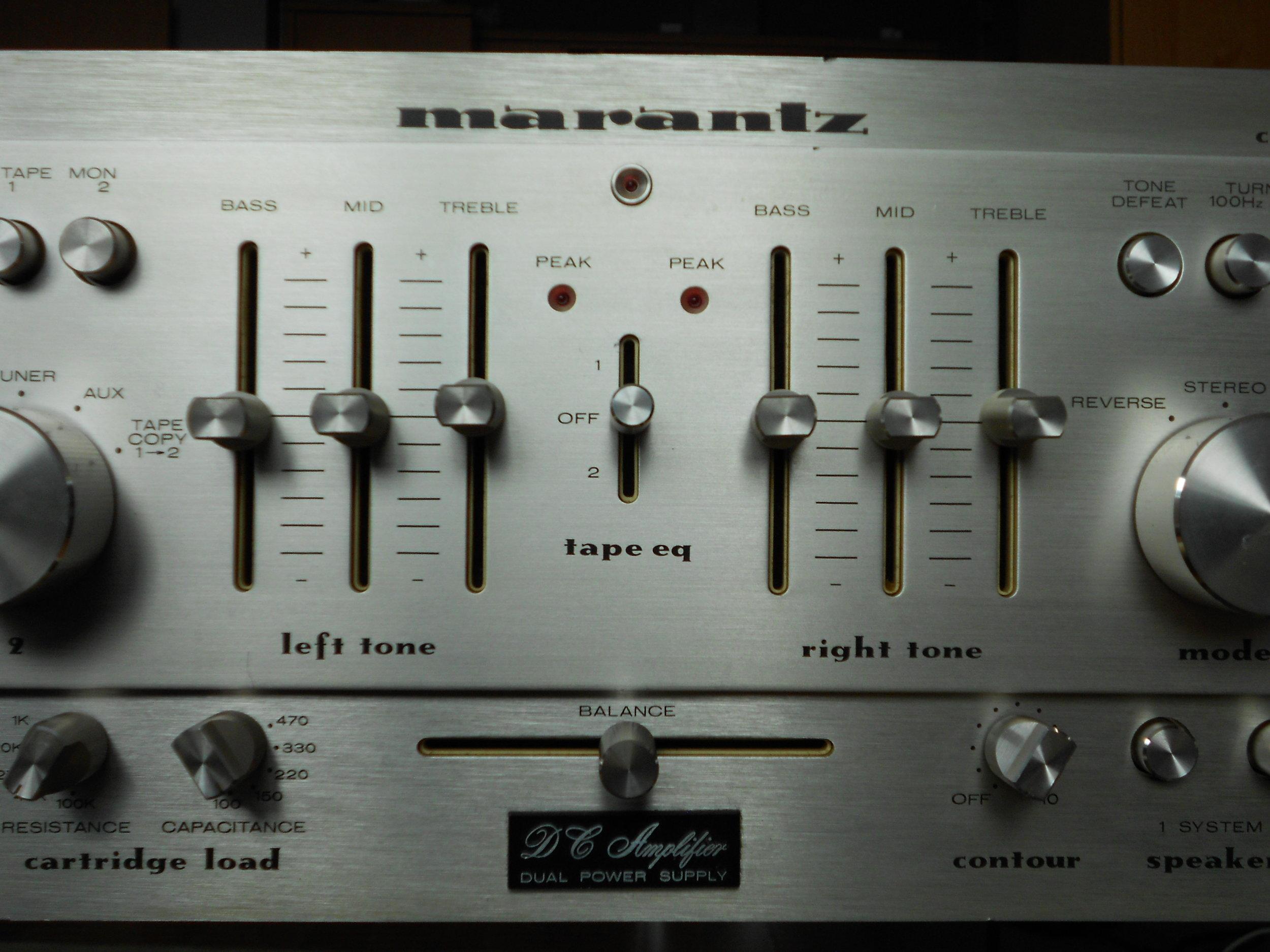 Marantz 1300DC integrated amplifier.