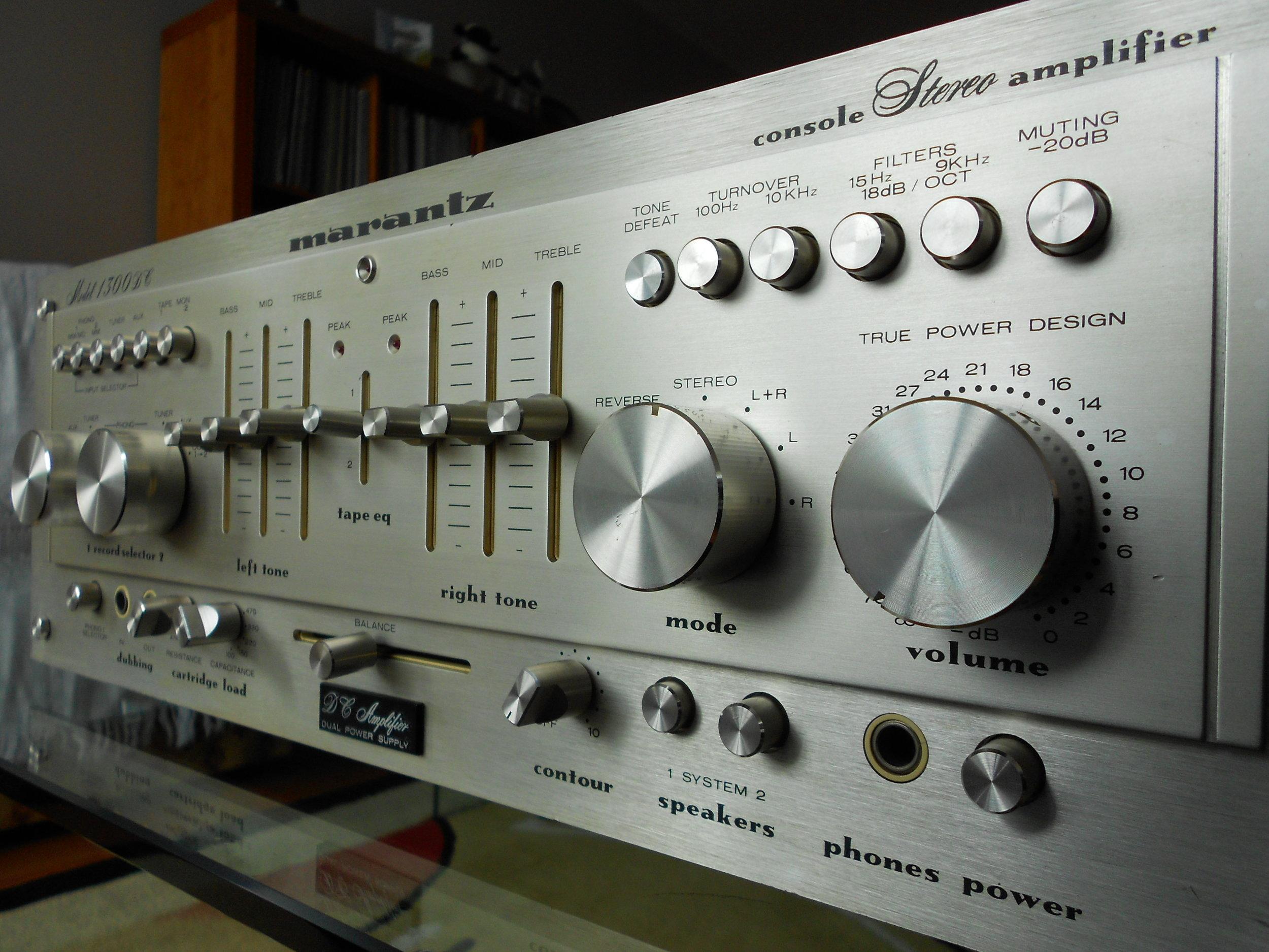 Marantz 1300 DC amplifier.