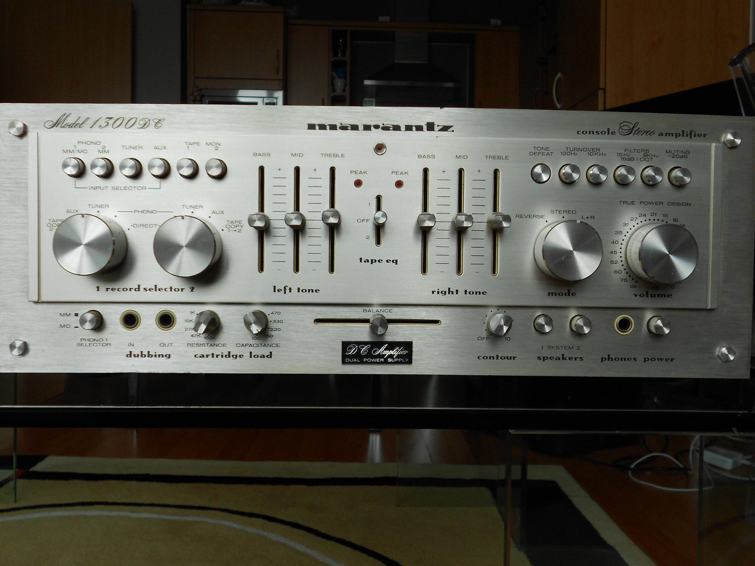 Marantz 1300DC amplifier.
