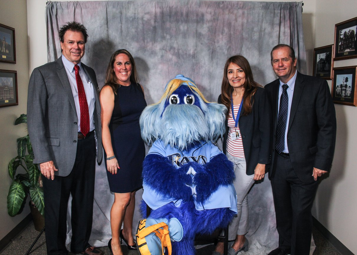 Left to right:Dave Farquharson, Eckerd Connects; Leigh Williams, Eckerd Connects; Raymond Ray; Maria Matheus, YFA Communications Specialist; Doug Tobin, Eckerd Connects External Relations Director.