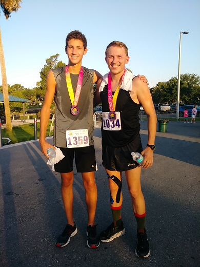10K 3rd place: Mac Wright, Freshman, Newsome High School; 10K 2nd place: Joseph Fuller, I Play Track Foundation .