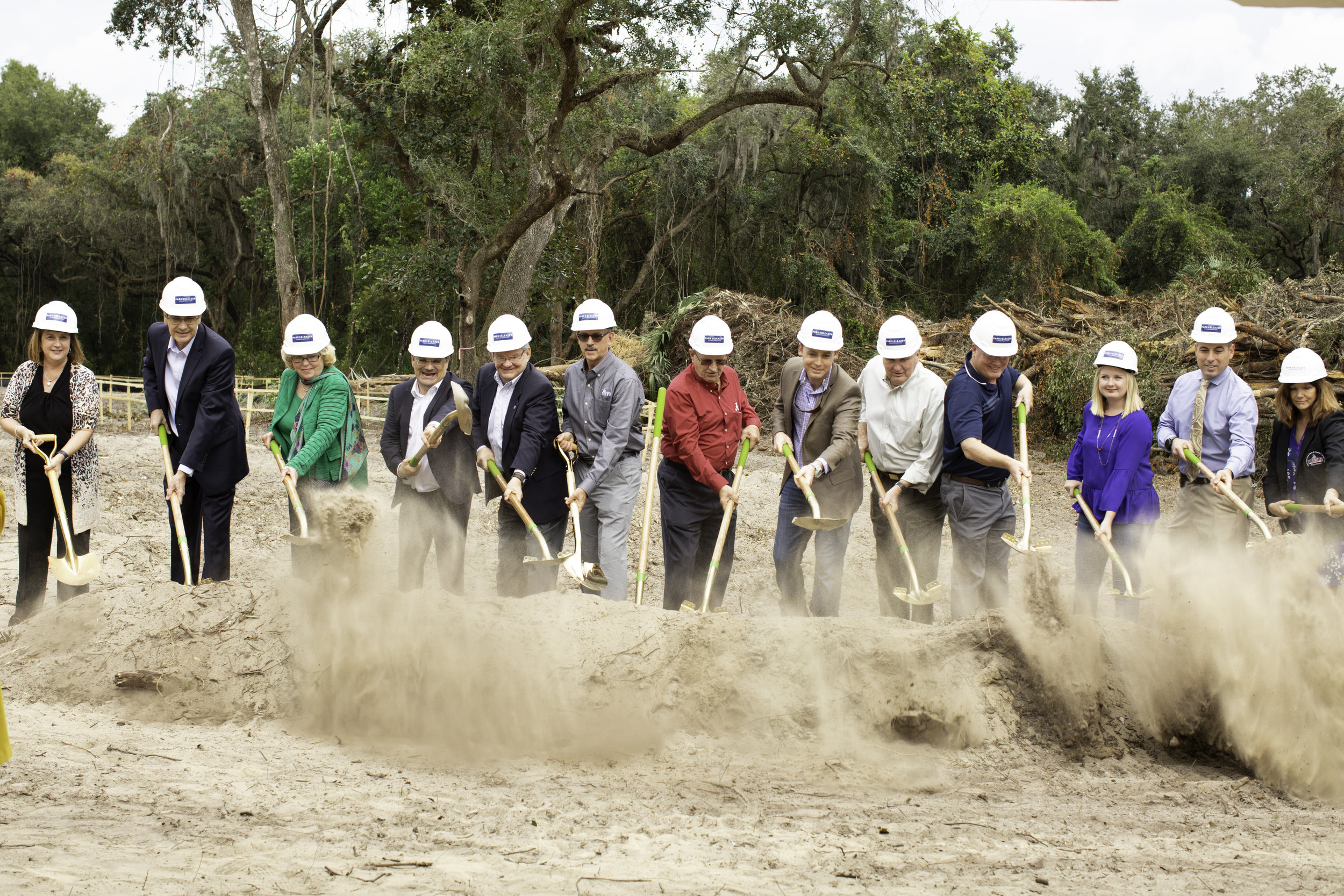 A groundbreaking ceremony was held on November 2, 2018 for The Commons of Speer Village on Plathe Road.