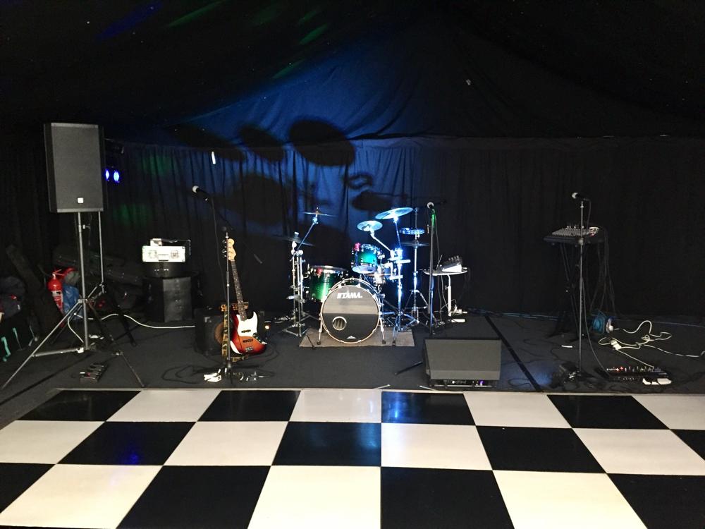 Live band setup (four piece)