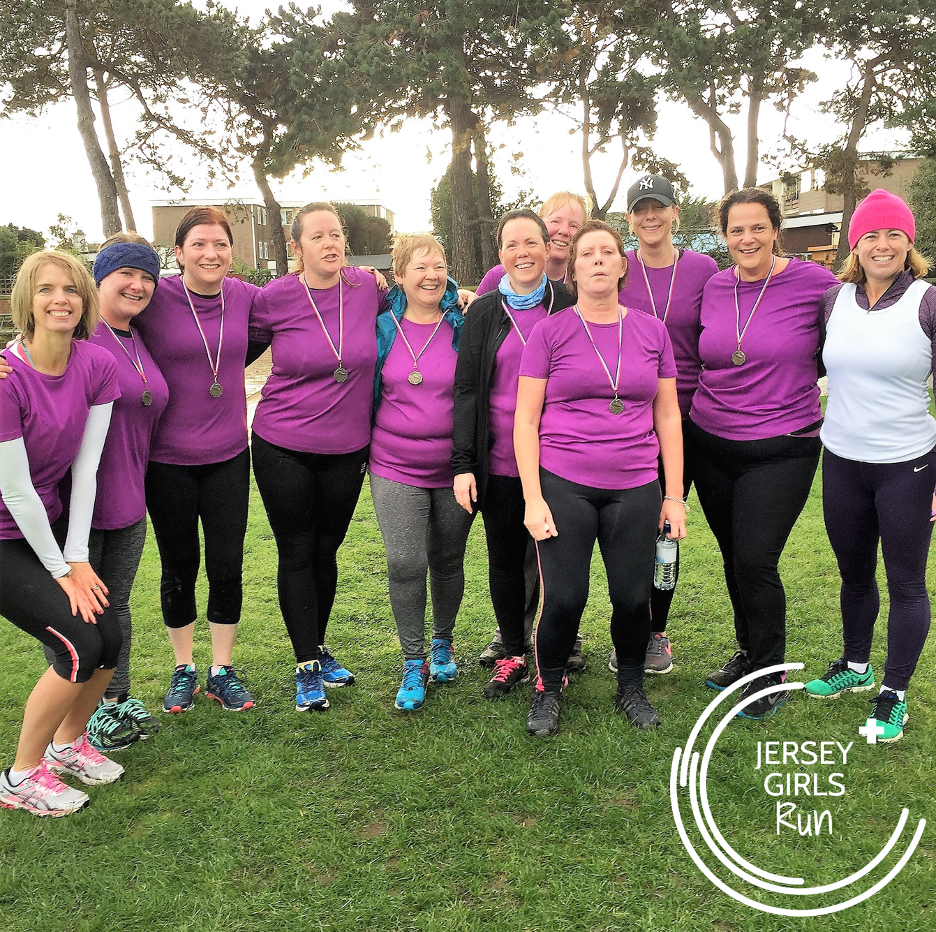 12 NOVEMBER 2016 - second group of C25K graduates at parkrun - CONGRATULATIONS to our second group of C25K graduates who completed their nine week C25K program with JERSEY GIRLS and headed to Jersey's parkrun to run their 5k.These women battled through some atrocious autumnal weather but hung in there and their dedication paid off.