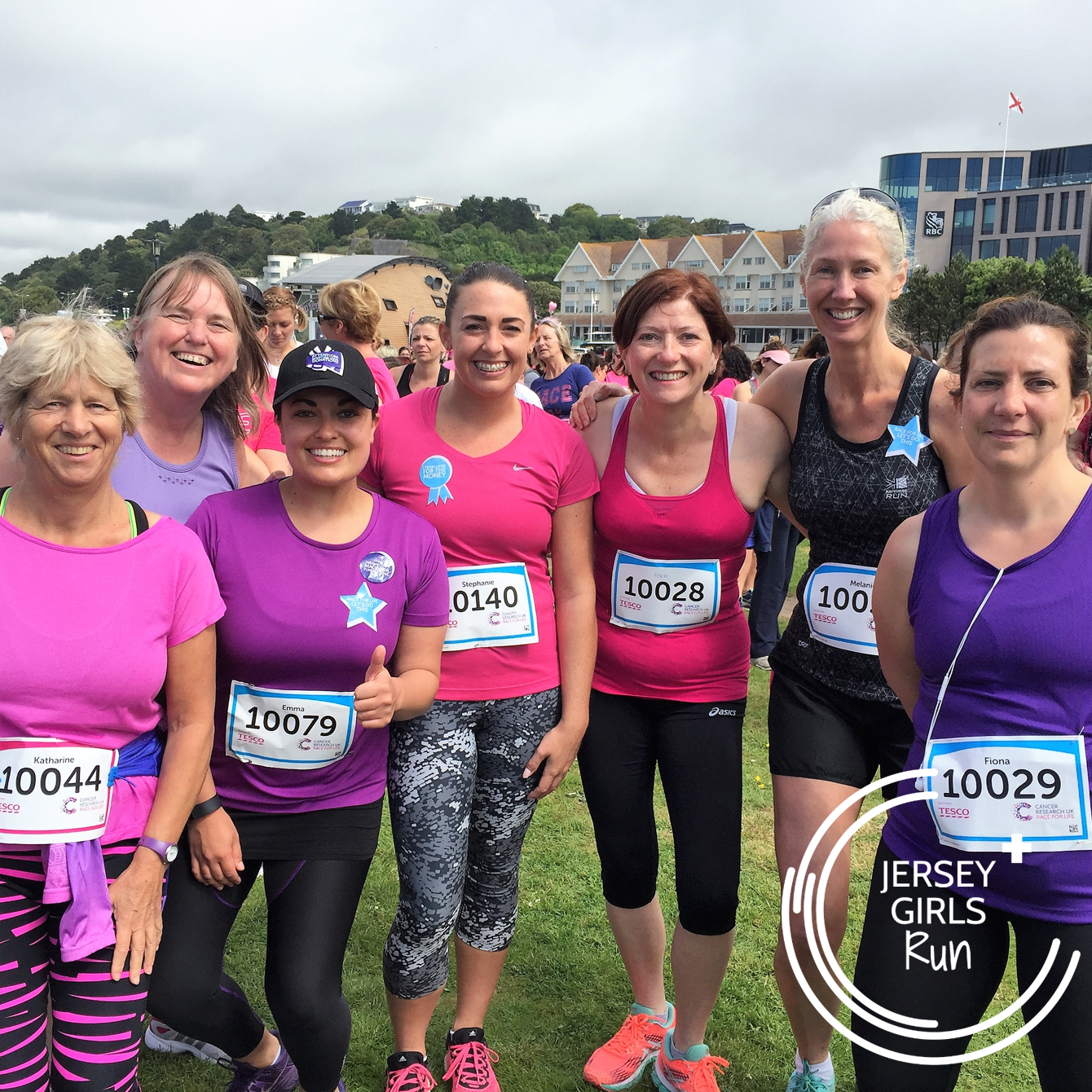 27 MAY 2017 - JERSEY GIRLS Race for Life - Hundreds of women walked, jogged and ran the Cancer Research UK Race for Life with the options of a 5k or a 10k route.  Lets beat it together.