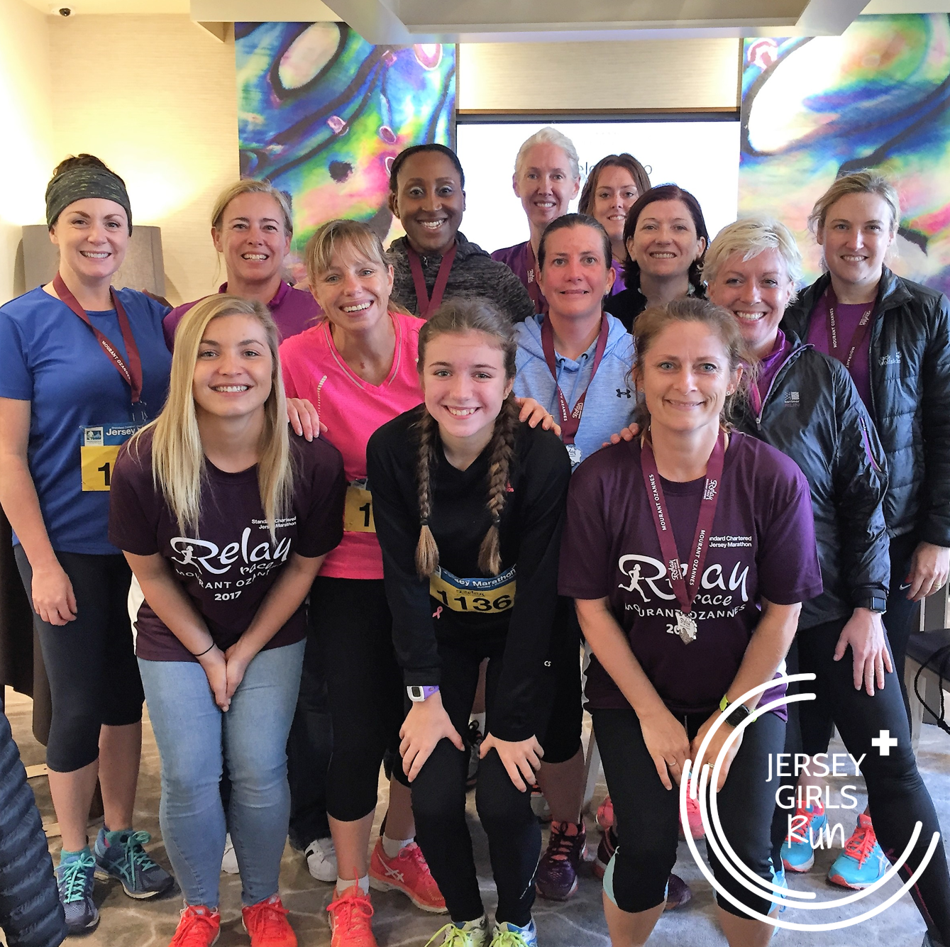 1 OCTOBER 2017 - Jersey Marathon - A number of JERSEY GIRLS were running in the Marathon Relay either for JERSEY GIRLS teams, work teams or charity teams. It was great to see so many of them participating. A mention to Karran who was ran the full marathon raising funds for the Hazil Brown Trust.