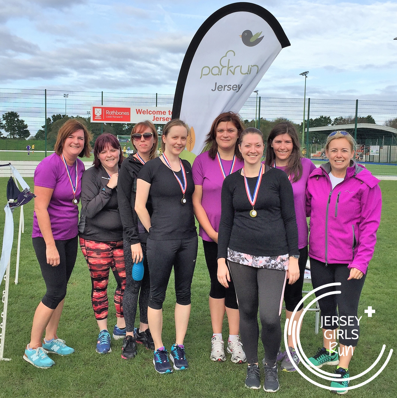 7 OCTOBER 2017 - Team Triumph head to parkrun - CONGRATULATIONS to team Team Triumph who completed their nine week C25K program with JERSEY GIRLS and headed to Jersey's parkrun to run their 5k.One of our team members was off island for their graduation run so instead of missing out, they found a parkrun at Brighton & Hove and did their 5k there at the same time as the team in Jersey.  Fantastic dedication.