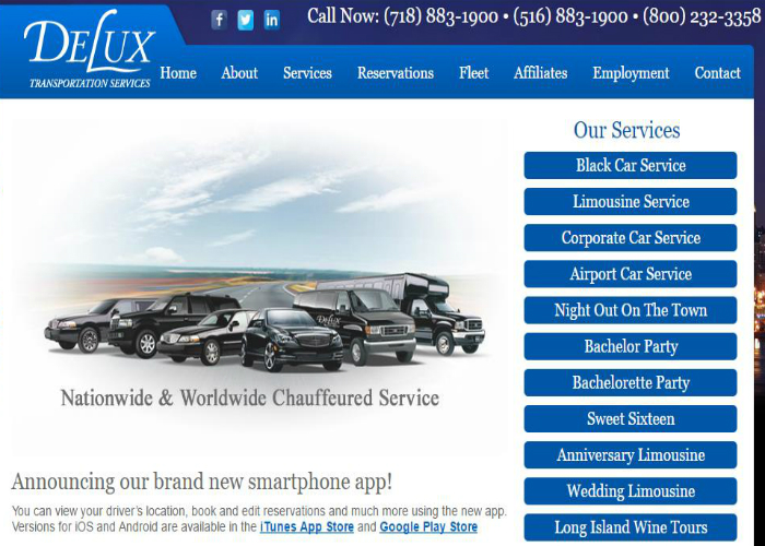 Delux was started up just over 45 years ago as a local transportation company providing complete service to the Port Washington and surrounding areas.  By providing professional, reliable service over the years we were able to steadily expand both our services and our fleet.   www.deluxtransportation.com