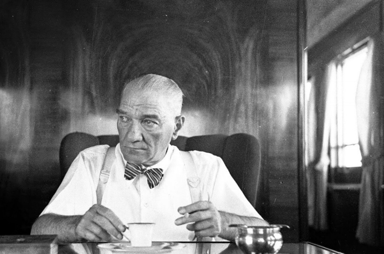Mustafa Kemal Atatürk, Founder of Modern Turkey, with his beloved Turkish Coffee.