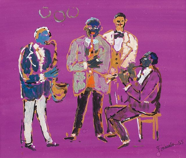 Les Musiciens, Fikret Muallâ, 1955 🎺 #umayanaloves #fikretmualla #turkish #modern #art #expressionism #fauvism #muse #inspiration #happy #jazz #internationaljazzday #artsy