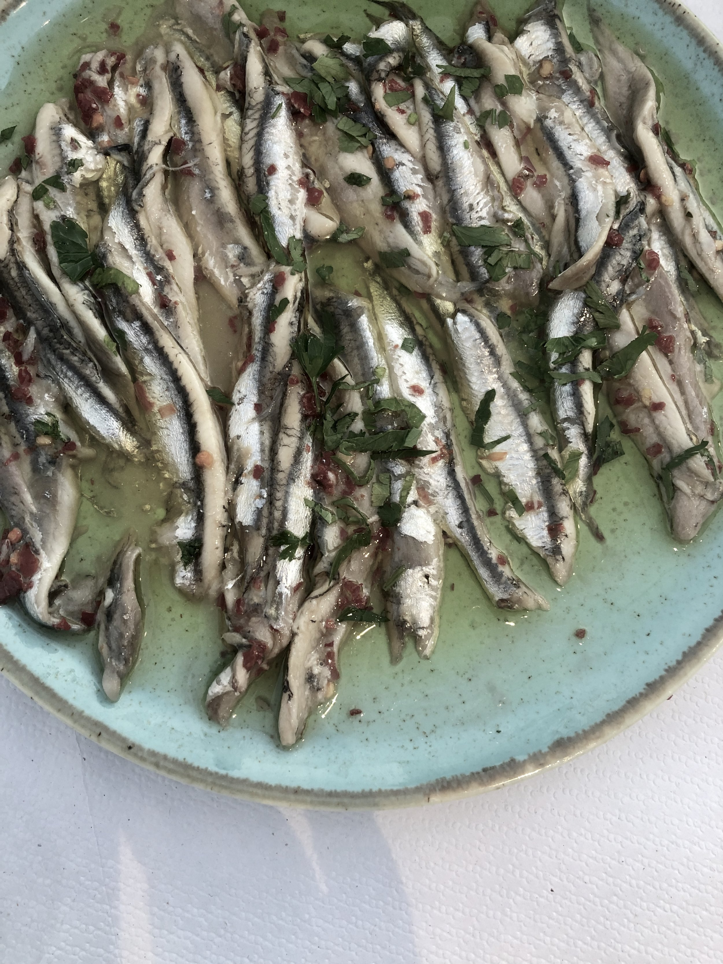 Sardine with captain's secret sauce