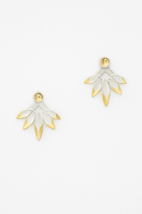 Flight Ear Jackets.  Silver, Keum-boo, Citrine