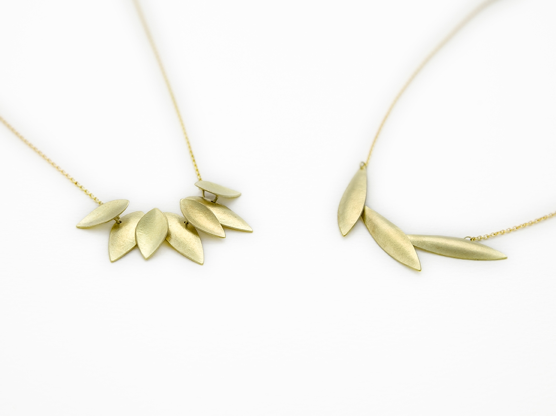 Sunflower and Plume Pendant