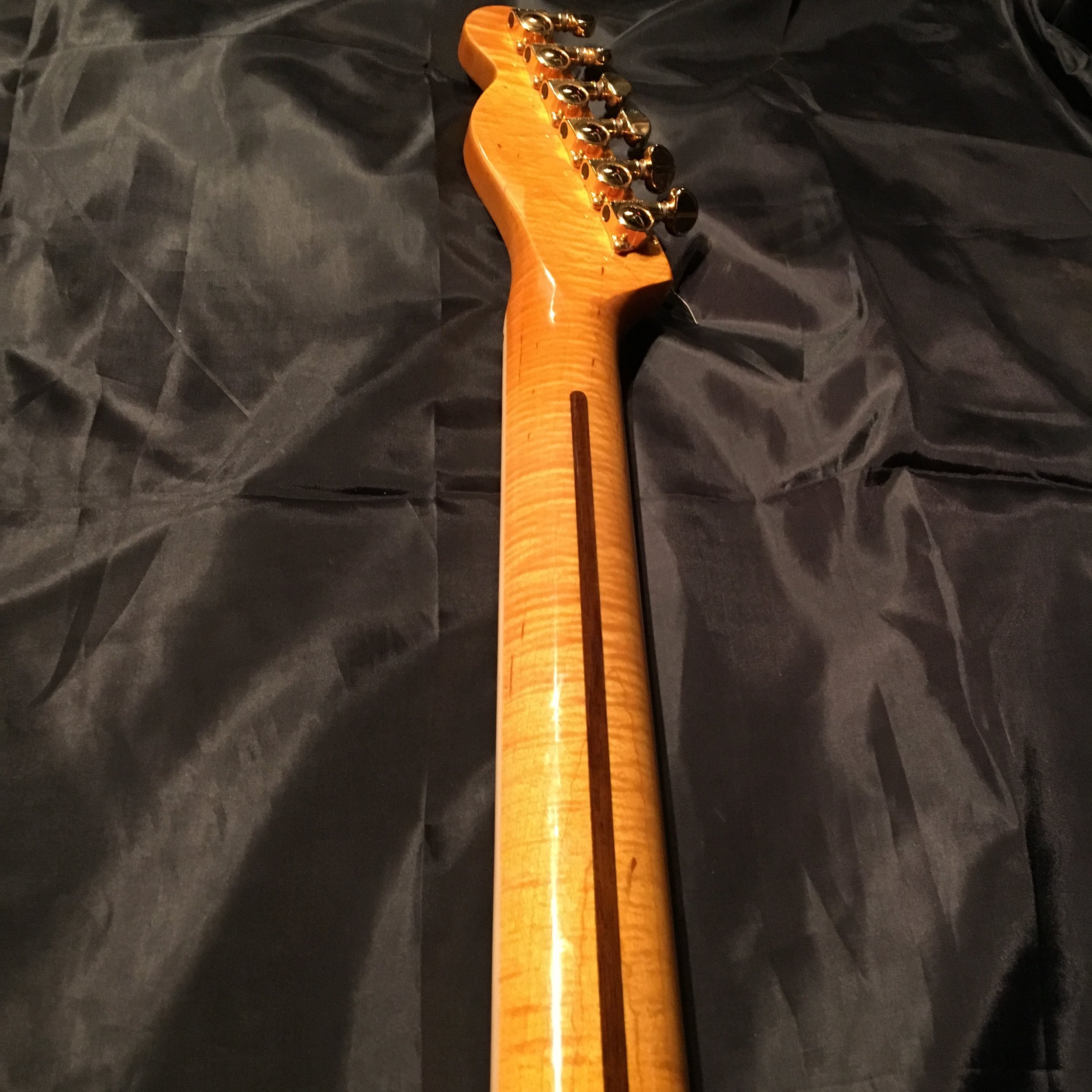 Maple neck used on guitar #18.