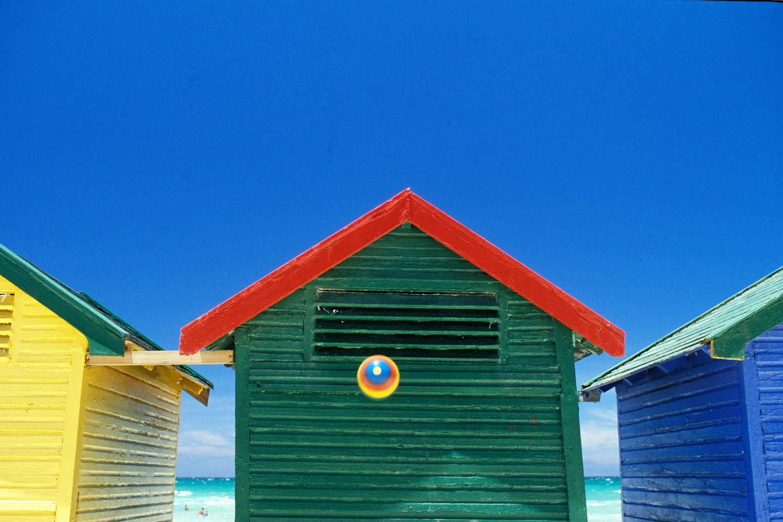 beach cabins ball  muizenberg / south africa   buy here